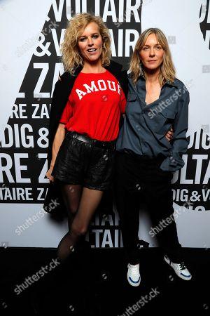 Eva Herzigova and Cecilia Bonstrom backstage