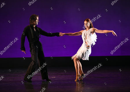 Louis van Amstel and Anna Trebunskaya