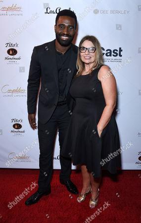 Keoikantse Motsepe and Kay Buck, CEO of CAST Los Angeles