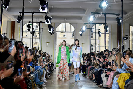 Models present creations from the Women Spring/Summer 2019 collection by French designer Sophie Mechaly for Paul and Joe fashion house during the Paris Fashion Week, in Paris, France, 30 September 2018. The presentation of the Women's collections runs from 24 September to 02 October.