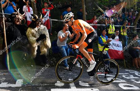 Tom Dumoulin of the Netherlands in action at the last climb of the 'Hoell' (eng. Hell) during the men's Elite Road Race of the UCI Road Cycling World Championships over 258km from Kufstein to Innsbruck, Austria, 30 September 2018.