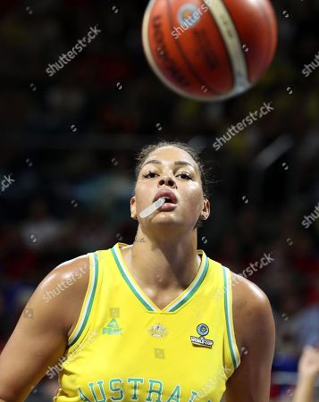 Australia's Liz Cambage in action during the 2018 FIBA Women's Basketball World Cup final between Australia and the USA in San Cristobal de La Laguna, Canary Islands, Spain, 30 September 2018.