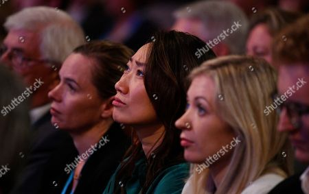 Lucia Hunt (C) the wife of Britain's Foreign Secretary Jeremy Hunt watches as her husband speaks on first day of the Conservative Party Conference in Birmingham, Britain, 30 September 2018. The Conference runs from 30 September to 03 October.