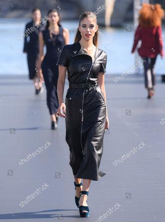 Stock Image of Doukissa Nomikou on the catwalk