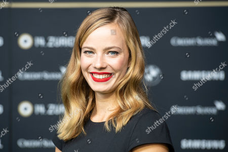Stock Photo of German actress Saskia Rosendahl poses on the Green Carpet before the screening of 'Never Look Away' (Werk ohne Autor) during the 14th Zurich Film Festival (ZFF), in Zurich, Switzerland, 30 September 2018. The festival runs from 27 September to 07 October.