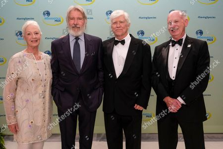 Jane Alexander, Harrison Ford, Russ Mittermeier, Mike Crowther. Actor and environmentalist Jane Alexander, left, actor and environmentalist Harrison Ford, second from left, 2018 Indianapolis Prize winner Russ Mittermeier, second from right and Mike Crowther, CEO of the Indianapolis Zoological Society as seen at the 2018 Indianapolis Prize Gala at the JW Marriott, in Indianapolis. Ford is the 2018 recipient of the Jane Alexander Global Wildlife Ambassador Award