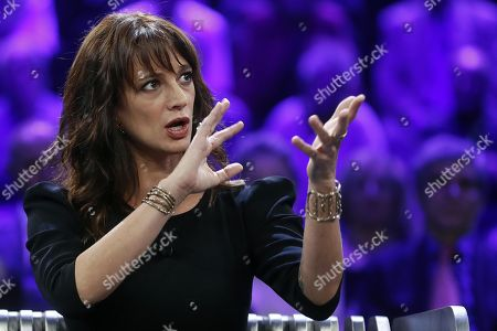 Stock Picture of Italian actress Asia Argento during the Italian La7 TV program 'Non e l'Arena', conducted by Massimo Giletti, in Rome, Italy, 30 september 2018. According to reports, Argento was speaking about a scandal that broke out in August 2018 after she was accused of sexual assault by actor Jimmy Bennett in New York Times. Asia Argento denied any sexual contact with Bennett. Argento was among first women who publicly accused Harvey Weinstein of rape in October 2017.
