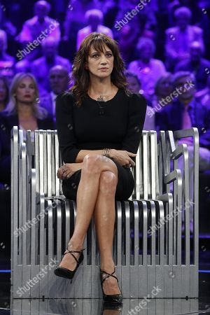 Editorial photo of Italian actress Asia Argento interview in Italian TV, Rome, Italy - 30 Sep 2018