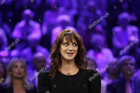 Editorial picture of Italian actress Asia Argento interview in Italian TV, Rome, Italy - 30 Sep 2018