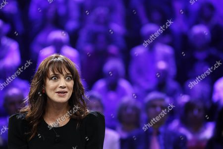 Editorial image of Italian actress Asia Argento interview in Italian TV, Rome, Italy - 30 Sep 2018