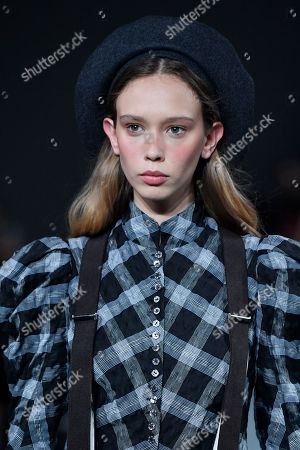 A model presents a creation from the Spring/Summer 2019 Women's collection by British designer Bill Gaytten for John Galliano fashion house during the Paris Fashion Week, in Paris, France, 30 September 2018. The presentation of the Women's collections runs from 24 September to 02 October.