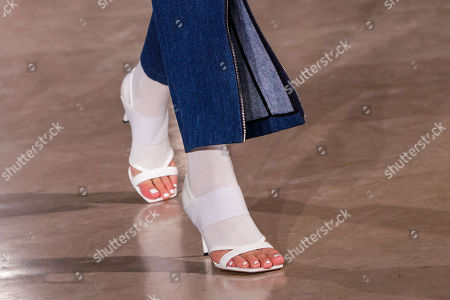 Stock Picture of A model presents a creation of the Spring/Summer 2019 Women's collection by Chinese designer Masha Ma during the Paris Fashion Week, in Paris, France, 30 September 2018. The presentation of the Women's collections runs from 24 September to 02 October.