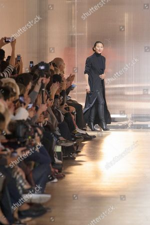 Stock Image of Yiqing Yin on the catwalk