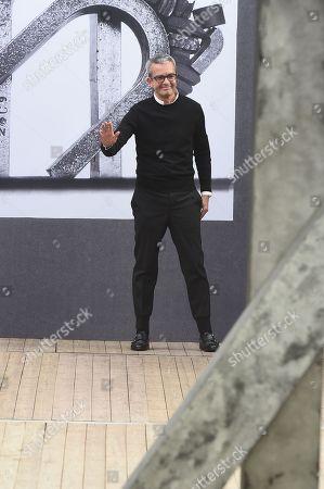Albert Kriemler on the catwalk