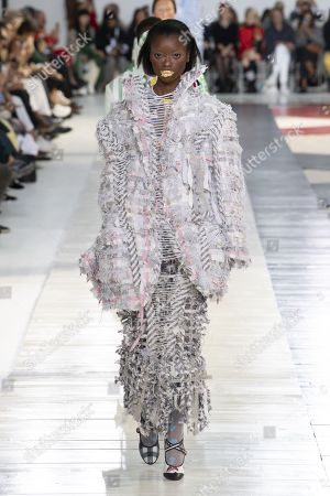 Olivia Anakwe on the catwalk