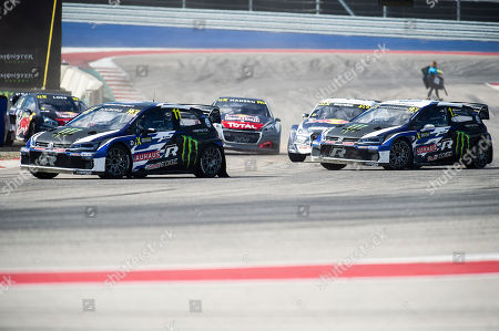 Petter Solberg #11 with Team PSRX Volkswagen Sweden in action during the finals at the World Rallycross Championship, Circuit of the Americas. Austin, Texas