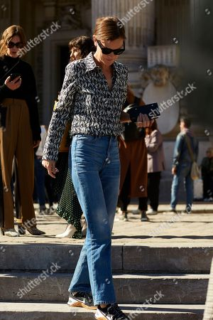 Editorial photo of Street style Spring Summer 2019 Paris Fashion Week, France - 30 Sep 2018