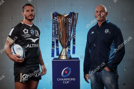 Montpellier's Louis Picamoles and head coach Vern Cotter