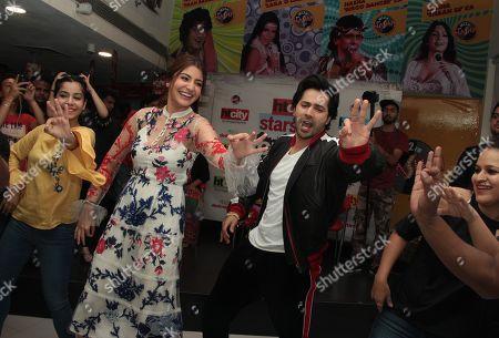 Bollywood actors Anushka Sharma and Varun Dhawan