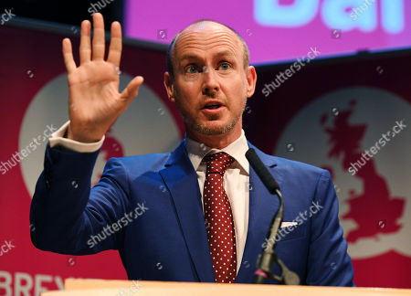Stock Picture of Daniel Hannan speaks at a Brexit Central Fringe meeting