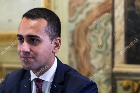 Italian Deputy Premier and Labour and Industry Minister Luigi Di Maio during a meeting with Swiss Federal Councilor Johann Schneider-Ammann at Chigi Palace in Rome, Italy, 01 October 2018.