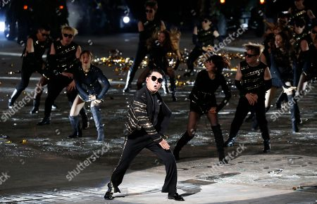 Singer-rapper Psy performs during the 70th anniversary of Armed Forces Day at the War memorial of Korea in Seoul, South Korea, 01 October 2018.