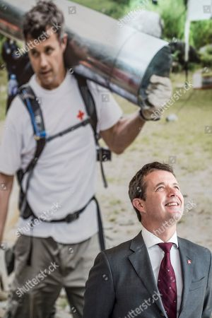 Crown Prince Frederik of Denmark smiles during his visit to the Red Cross 'Volunteer House' in Copenhagen, Denmark, 01 October 2018, in connection with the crown prince becoming a Protector of Denmark's Red Cross. The Crown Prince takes over the position from his late father, Prince Henrik, who was protector of Denmark's Red Cross for 17 years.