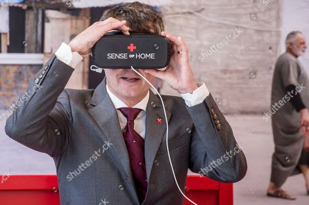 Stock Image of Crown Prince Frederik of Denmark during his visit to the Red Cross 'Volunteer House' in Copenhagen, Denmark, 01 October 2018, in connection with the crown prince becoming a Protector of Denmark's Red Cross. The Crown Prince takes over the position from his late father, Prince Henrik, who was protector of Denmark's Red Cross for 17 years.
