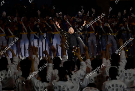 Stock Picture of South Korean rapper PSY performs during the 70th anniversary of Armed Forces Day at the War Memorial of Korea in Seoul, South Korea