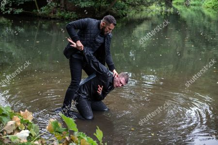 Ep 8282 Wednesday 10th October 2018 Ross Barton, as played by Michael Parr, and Simon, as played by Liam Ainsworth, are finally alone and facing up to one another. Ross is about to attack him when Moira Dingle arrives Ross however is undeterred and drags Simon to the edge of the lake. How will this end and will Ross get the truth he deserves from Simon?