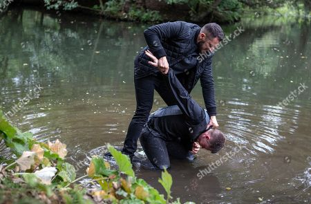 Ep 8282 Wednesday 10th October 2018 Ross Barton, as played by Michael Parr, and Simon, as played by Liam Ainsworth, are finally alone and facing up to one another. Ross is about to attack him when Moira Dingle, arrives Ross however is undeterred and drags Simon to the edge of the lake. How will this end and will Ross get the truth he deserves from Simon?