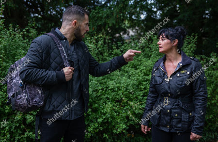 Ep 8280 & 8281 Tuesday 9th October 2018 Ross Barton, as played by Michael Parr, is stunned when he is confronted by suspicious Moira Dingle, as played by Natalie J Robb, who has worked out his plan and tries to talk him out of it. He puts her off the scent and soon after spotting Simon.