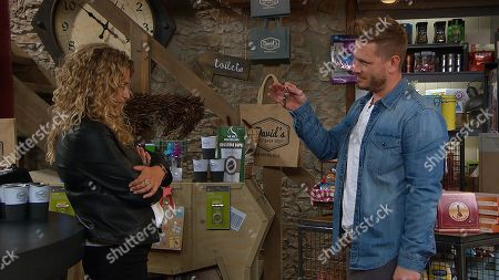 Ep 8274 Tuesday 2nd October 2018 When Maya's, as played by Louisa Klein, left homeless, David Metcalfe, as played by Matthew Wolfenden, invites her to live with him and she willingly accepts.