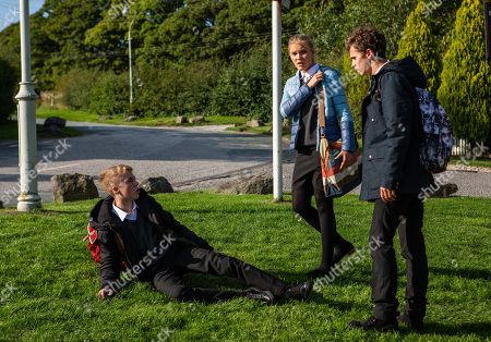 Ep 8288 Wednesday 17th October 2018 Things turn messy when Jacob Gallagher, as played by Joe Warren Plant, pushes Noah Tate, as played by Jack Downham, at the bus stop and Leanna, as played by Mimi Slinger, tells Jessie that Jacob attacked Noah over Maya.