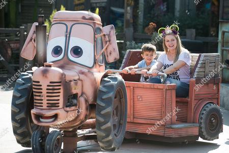 Melissa Joan Hart celebrates son Tucker McFadden Wilkerson's birthday at Disneyland Resort