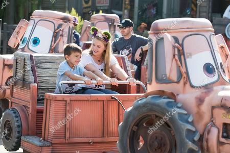 Stock Image of Melissa Joan Hart celebrates son Tucker McFadden Wilkerson's birthday at Disneyland Resort