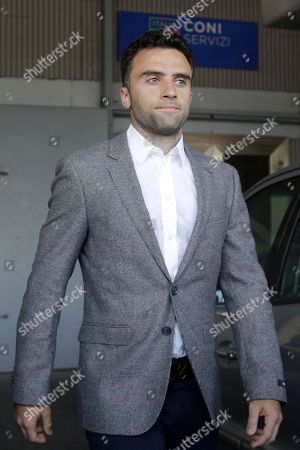 Soccer player Giuseppe Rossi leaves after being heard by a CONI (Italian Olympic committe) anti-doping commission, in Rome
