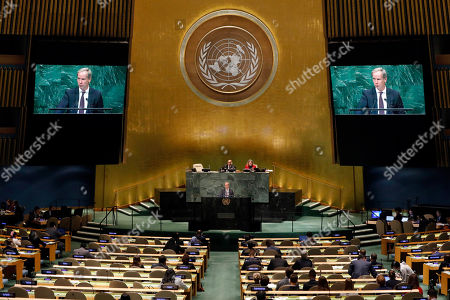 Sweden's U.N. Ambassador Olof Skoog addresses the 73rd session of the United Nations General Assembly, at U.N. headquarters