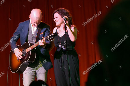 Isaac Slade and Anna Slade of The Fray and