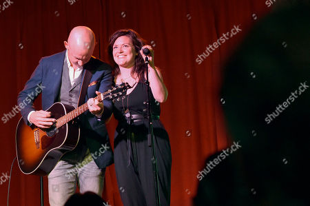 Isaac Slade and Anna Slade of The Fray