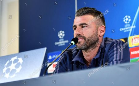 Juventus' defender Andrea Barzagli attends a press conference in Turin, Italy, 01 October 2018. BSC Young Boys will face Juventus in their UEFA Champions League Group H soccer match on 02 October 2018.