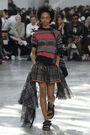 Stock Image of Aaliyah Hydes on the catwalk