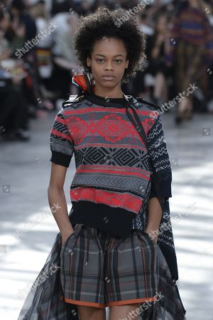 Stock Picture of Aaliyah Hydes on the catwalk