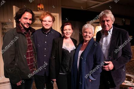 Joseph Timms, Sam Williams, Finty Williams (Barbara Jackson), Judi Dench and David Mills backstage