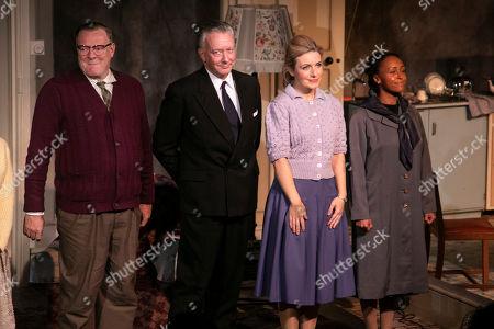 Chris Larkin (Bob Jackson), Jasper Britton (Stewart), Natalie Walter (Thelma) and Sia Dauda (Sally) during the curtain call