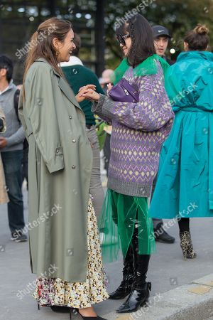 Editorial picture of Street Style, Spring Summer 2019, Paris Fashion Week, France - 30 Sep 2018
