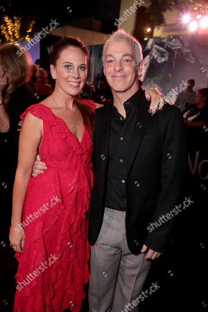 Kelly Marcel, Writer, and Jeff Pinkner, Writer, at Columbia Pictures' VENOM World Premiere at the Regency Village Theater