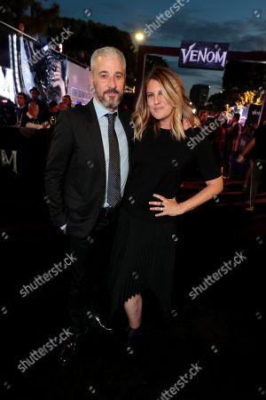 Matt Tolmach, Producer, and Paige Goldberg Tolmach at Columbia Pictures' VENOM World Premiere at the Regency Village Theater