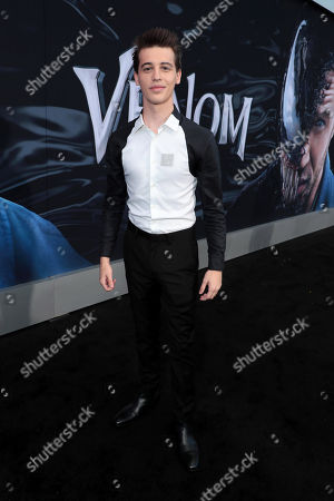 Mason Guccione at Columbia Pictures' VENOM World Premiere at the Regency Village Theater