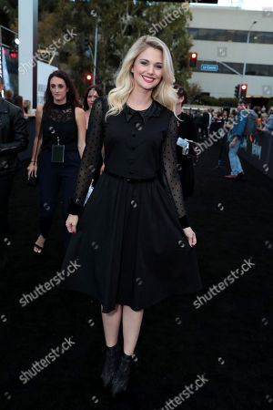 Stock Picture of Katie Gill at Columbia Pictures' VENOM World Premiere at the Regency Village Theater